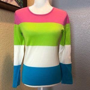 NWT Ralph Lauren Lightweight Striped Sweater Sz L